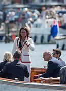 Henley-on-Thames. United Kingdom.  2017 Henley Royal Regatta, Henley Reach, River Thames. <br /> Umpire and HRR Steward Guin BATTEN<br /> <br /> 15:19:47  Sunday  02/07/2017   <br /> <br /> [Mandatory Credit. Peter SPURRIER/Intersport Images.