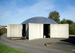 Tilapia building at Raketenstation a former rocket station at Museum Insel at Hombroich at Neuss in Germany