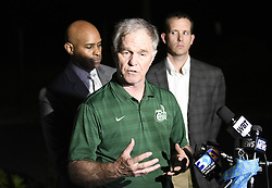 April 30, 2019 - Charlotte, NC, USA - Chief Jeff Baker of UNC Charlotte Campus Police conducts the first briefing in the aftermath of fatal shootings on the campus of UNC Charlotte on Tuesday, April 30, 2019. (Credit Image: © TNS via ZUMA Wire)