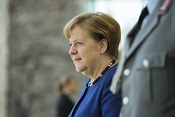 April 17, 2018 - Berlin, Germany - German Chancellor Angela Merkel is pictured before meeting the Prime Minister of New Zealand Jacinda Ardern at the Chancellery in Berlin, Germany on April 17, 2018. (Credit Image: © Emmanuele Contini/NurPhoto via ZUMA Press)