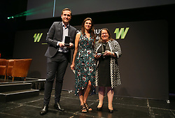 Brand/Sponsor Partnership of the Year award presented to Investec's partnership with GB and England Women's Hockey during the Women's Sport Trust #BeAGameChanger Awards, Troxy.