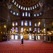 Interior of Blue Mosque in Istanbul (Istanbul, Turkey - Jul. 2008) (Image ID: 080719-1047241a)