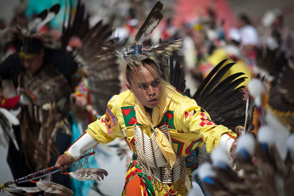 2010 Gathering of Nations Pow-Wow at University Stadium in Albuquerque New Mexico. Over 3,000 indigenous / Native American / Indian dancers and singers representing more than 500 tribes from Canada and the United States come to Albuquerque annually to participate socially and competitively..
