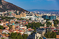 Tbilisi , Georgia - August 25, 2019 :  cityscape skyline of Tbilisi Georgia capital city eastern Europe