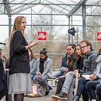 Nederland, Amsterdam, 10 maart 2017.<br />De stand van Illy tijdens de Amsterdam Coffee Festival in de Gashouder op het Westergasfabriek terrein.<br />Op de foto: Esther Maasdam (Coffee Connoiseur) tijdens haar workshop in LAB<br /><br /><br /><br />Foto: Jean-Pierre Jans