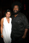 Rachel Goldstein and Questlove at An evening with Dave Chappelle for Kevin Powell for Congress held at Eugene's on July 9, 2008..Kevin Powell runs as a Democratic Candidate for Congress in Brooklyn's 10th Congressional District