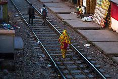 Park Circus railway station, Kolkata, India