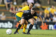 Meikayla Moore looks to control possession during the Cup of Nations Women's Football match, New Zealand Football Ferns v Matildas, Leichhardt Oval, Thursday 28th Feb 2019. Copyright Photo: David Neilson / www.photosport.nz