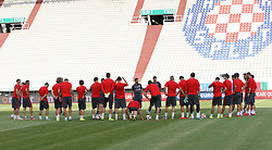 11.06.2015, Stadion Poljud, Split, CRO, UEFA Euro 2016 Qualifikation, Kroatien vs Italien, Gruppe H, Training Kroatien, im Bild das Kroatische Nationalteam beim Training // during trainig of Team Croatia prior to the UEFA EURO 2016 qualifier group H match between Croatia and and Italy at the Stadion Poljud in Split, Croatia on 2015/06/11. EXPA Pictures © 2015, PhotoCredit: EXPA/ Pixsell/ Ivo Cagalj<br /> <br /> *****ATTENTION - for AUT, SLO, SUI, SWE, ITA, FRA only*****