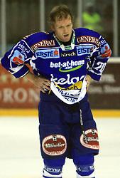 Mickey Elick (20) at ice hockey match Acroni Jesencie vs EC Pasut VSV. in EBEL League,  on November 23, 2008 in Arena Podmezaklja, Jesenice, Slovenia. (Photo by Vid Ponikvar / Sportida)