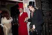 SEBASTIAN HORSLEY; VIVIENNE WEST, First night party for Dandy In The Underworld which opened at the  Soho Theatre, 21 Dean Street. House Of St Barnabas, 1 Greek Street, 15 June 2010. -DO NOT ARCHIVE-© Copyright Photograph by Dafydd Jones. 248 Clapham Rd. London SW9 0PZ. Tel 0207 820 0771. www.dafjones.com.