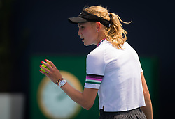 March 23, 2019 - Miami, FLORIDA, USA - Donna Vekic of Croatia in action during her third-round match at the 2019 Miami Open WTA Premier Mandatory tennis tournament (Credit Image: © AFP7 via ZUMA Wire)