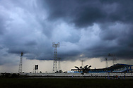 Storm over the stadium in Ciego de Avila, Cuba.