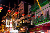 United States, California, San Francisco. Chinatown is the largest Chinese community outside Asia.