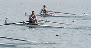 Caversham. Berkshire. UK<br /> Molesey's Sam TUCK, heds the field with 600 M to go.<br /> 2016 GBRowing U23 Trials at the GBRowing Training base near Reading, Berkshire.<br /> <br /> Tuesday  12/04/2016<br /> <br /> [Mandatory Credit; Peter SPURRIER/Intersport-images]