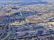 Nederland, Noord-Holland, Amsterdam; 16-04-2021; Amsterdam-West, Centrale Markt (Amsterdam Foodcentre), Jan van Galenstraat. Zicht op Bos en Lommer.<br /> Amsterdam-West, Central Market (Amsterdam Food centre), Jan van Galenstraat. View of Bos en Lommer.<br /> <br /> luchtfoto (toeslag op standard tarieven);<br /> aerial photo (additional fee required)<br /> copyright © 2021 foto/photo Siebe Swart