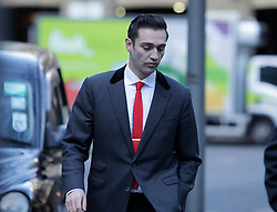 © Licensed to London News Pictures. 10/12/2012. London, U.K..Reg Traviss, boyfriend of late singer Amy Winehouse appears at Southwark Crown Court today (10/12/12) facing trial for two counts of rape  during New Years Eve 2011..Photo credit : Rich Bowen/LNP