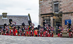 Installation of Edinburgh Castle Govenor, Edinburgh Castle, Edinburgh, Scotland, United Kingdom 23  June 2021: <br /> Installation as Governor of Edinburgh Castle: the dress rehearsal takes place for the ceremony which will be held tomorrow, two years after the handover of the position to Maj Gen Alastair Bruce of Crionaich.  The ceremony was delayed due to Covid-19. The role of Governor is a historic one, dating back to 1067. Maj Gen Bruce is also a Sky News commentator. Representative form all Scottish military regiments are involved, in a ceremony that takes a new curtailed form only within the castle due to Covid restrictions. <br /> Sally Anderson | EdinburghElitemedia.co.uk
