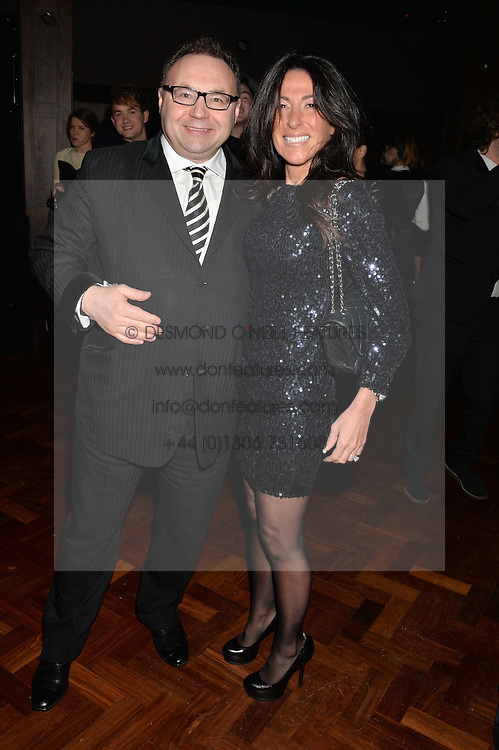 JONATHAN SHALIT and KATRINA SHALIT at the Universal Bacardi Brits' After Party At Soho House Pop-Up, 8 Victoria Embankment, London on 19th February 2014.