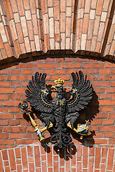 Prussian coat of arms on Spandau Citadel, in Berlin Germany