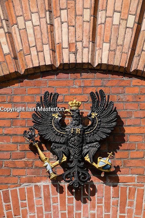 Prussian coat of arms on Spandau Citadel, in Berlin Germany