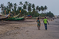 Couple Walking along the Beach, Kokrobite