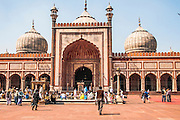 Jama Masjid, India's largest mosque, Delhi, India