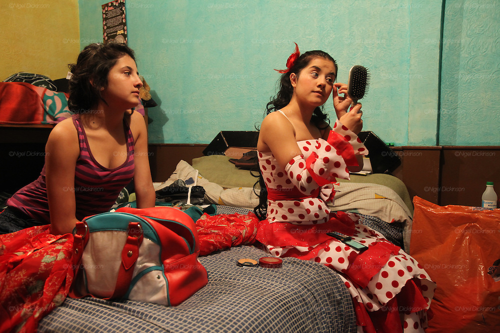 Sisters in ther room. Bogota, Columbia<br /><br />Roma came to the Americas as early as Christopher Columbus's first voyage. Roma were exported and sold as slaves along with negroes from Africa. Europe tried to solve its 'roma problem' by deporting many Roma slaves to the americas. In the 1920s Roma, Chinese and mentally handicapped were not allowed to enter the USA anymore. After that Roma went to South America and the Carribean with a view to traveling north across borders, but many ended up by setting up communities in the southern hemisphere. Nowadays about two million Roma live between North and South America.