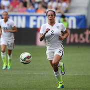 Sydney Leroux, U.S. Women's National Team, in action during the U.S. Women's National Team Vs Korean Republic, International Soccer Friendly in preparation for the FIFA Women's World Cup Canada 2015. Red Bull Arena, Harrison, New Jersey. USA. 30th May 2015. Photo Tim Clayton