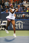 SLOANE STEPHENS of the United States plays against Sam Stosur of Australia at Day 6 of the Citi Open at the Rock Creek Tennis Center in Washington, D.C. Stephens won in straight sets.