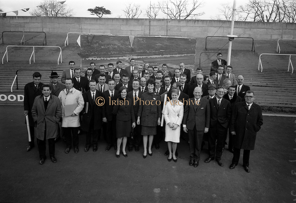 17/3/1966<br /> 3/17/1966<br /> 17 March 1966<br /> <br /> Group of Dealers at the Presentation by Renault at John F Kennedy Stadium, Santry