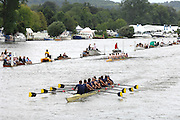 Henley, Great Britain. Temple Challenge Cup University Of Califonia, Berkeley, USA [Berks] and Goergetown University, at the 2007 Henley Royal Regatta,  Henley Reach, England 06/07/2007  [Mandatory credit Peter Spurrier/ Intersport Images] Rowing Courses, Henley Reach, Henley, ENGLAND . HRR.