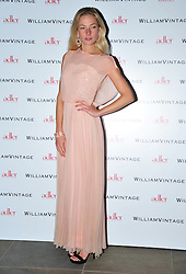 © Licensed to London News Pictures. 10/02/2012. London, England. Clara Paget attends a private dinner ahead of sundays Bafta awards hosted by William Banks-Blaney of WilliamVintage and actress Gillian Anderson at St Pancras Renaissance Hotel London  Photo credit : ALAN ROXBOROUGH/LNP