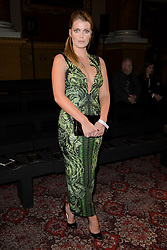 Lady Kitty Spencer on the front row during the Julien Macdonald Autumn/Winter 2017 London Fashion Week show at Goldsmith's Hall, London.
