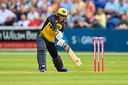 Billy Root of Glamorgan in action<br /> <br /> <br /> Photographer Craig Thomas/Replay Images<br /> <br /> Vitality Blast T20 - Round 4 - Glamorgan v Middlesex - Friday 26th July 2019 - Sophia Gardens - Cardiff<br /> <br /> World Copyright © Replay Images . All rights reserved. info@replayimages.co.uk - http://replayimages.co.uk