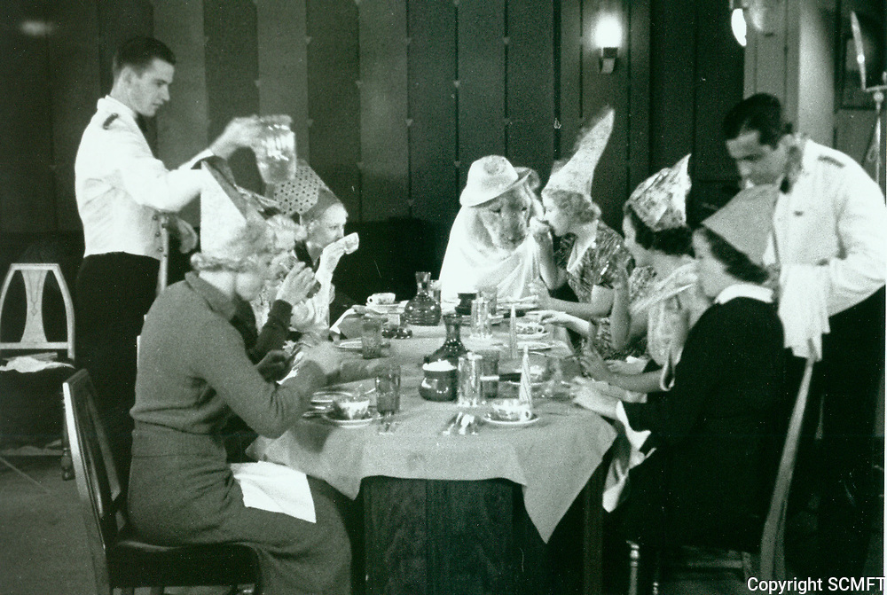 1936 A lion celebrates his 3rd birthday at The Brown Derby