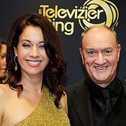 NLD/Amsterdam/20121019- Televiziergala 2012, Henk Poort en partner Marjolein Keuning