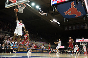 DALLAS, TX - DECEMBER 16: Shake Milton #1 of the SMU Mustangs drives to the basket against the Nicholls State Colonels on December 16, 2015 at Moody Coliseum in Dallas, Texas.  (Photo by Cooper Neill/Getty Images) *** Local Caption *** Shake Milton