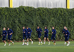 September 13, 2017 - Kiev, Ukraine - FC Dynamo Kyiv players on 13 September 2017  during a training session of the FC Dynamo Kyiv before the game against Albanian SkÃ«nderbeu in the UEFA Europa League Group B opener. (Credit Image: © Sergii Kharchenko/NurPhoto via ZUMA Press)