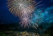 The Fourth of July fireworks display in Aspen, Colorado.