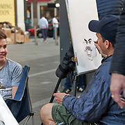 Street artists in Picadilly in London, United Kingdom.