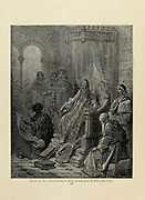 Sanuti showing maps of the East to Pope John Plate XC from the book Story of the crusades. with a magnificent gallery of one hundred full-page engravings by the world-renowned artist, Gustave Doré [Gustave Dore] by Boyd, James P. (James Penny), 1836-1910. Published in Philadelphia 1892