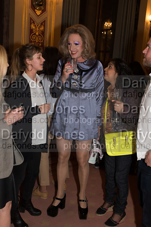 GRAYSON PERRY;  TenTen. The Government  Art Collection/Outset Annual Award. Champagne reception to announce the inaugural artist Hurvin Anderson and unveil his 2018 print. Locarno Suite, Foreign and Commonwealth Office. SW1. 2 October 2018