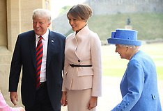 Donald Trump visit to the Queen - 13 July 2018