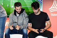 Real Madrid's player Nacho Fernandez and Youtuber Toni MC attends to the presentation of the new Adidas shoes Red Limit at Adidas Gran Via Store in Madrid. November 28, 2016. (ALTERPHOTOS/Borja B.Hojas)