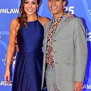 Amy Bowden and Karim Zeroual attends BBC1's National Lottery Awards 2019 at BBC Television Centre, 101 Wood Lane, on 15 October 2019, London, UK.