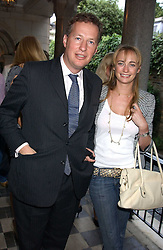 ORLANDO FRASER and CLEMENTINE HAMBRO at the No Campaign's Summer Party - a celebration of the 'Non' and 'Nee' votes in the Europen referendum in France and The Netherlands held at The Peacock House, 8 Addison Road, London W14 on 5th July 2005.<br /><br />NON EXCLUSIVE - WORLD RIGHTS