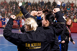 Urska Vidic of Krim during 3rd Main Round of Women Champions League handball match between RK Krim Mercator, Ljubljana and Larvik HK, Norway on February 19, 2010 in Arena Kodeljevo, Ljubljana, Slovenia. Larvik defeated Krim 34-30. (Photo by Vid Ponikvar / Sportida)
