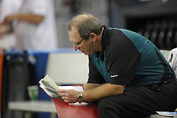 DETROIT - SEPTEMBER 19: Special teams coordinator Bobby April of the Philadelphia Eagles sits on the bench during the game against the Detroit Lions on September 19, 2010 at Ford Field in Detroit, Michigan. (Photo by Drew Hallowell/Getty Images)  *** Local Caption *** Bobby April