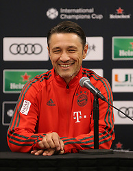 July 27, 2018 - Miami Gardens, Florida, USA - FC Bayern head coach NIKO KOVAC interacts with the media during a press conference before a practice session, in preparation for an International Champions Cup match against Manchester City at the Hard Rock Stadium in Miami Gardens, Florida. (Credit Image: © Mario Houben via ZUMA Wire)